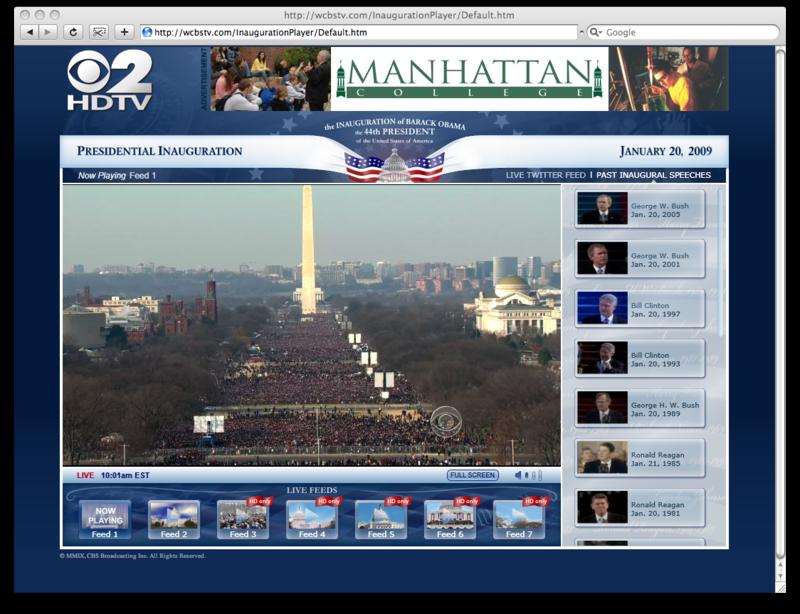 CBS Inauguration