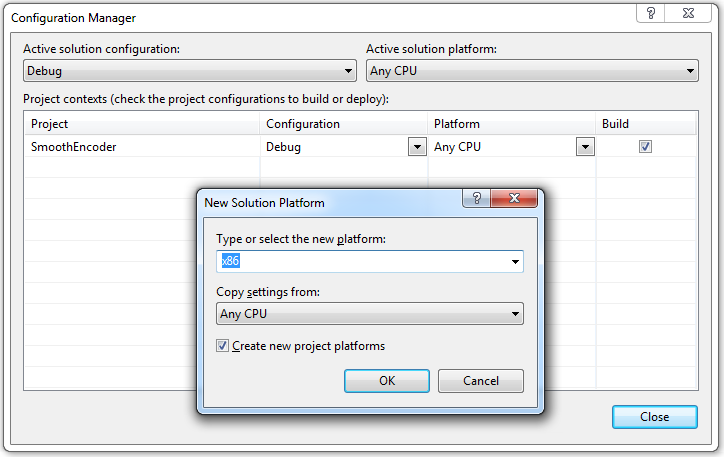 Visual Studio 2008 Configuration Manager
