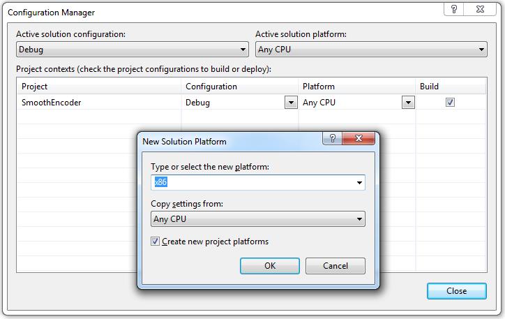 Visual Studio 2008 Configuration Manager
