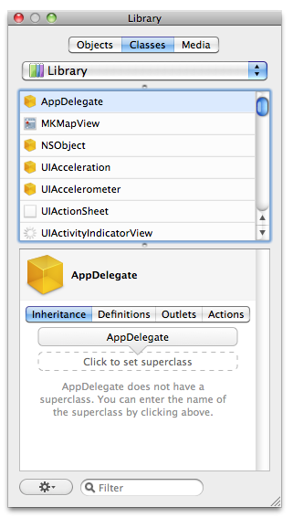Click on AppDelegate