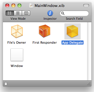 App Delegate in Document Window